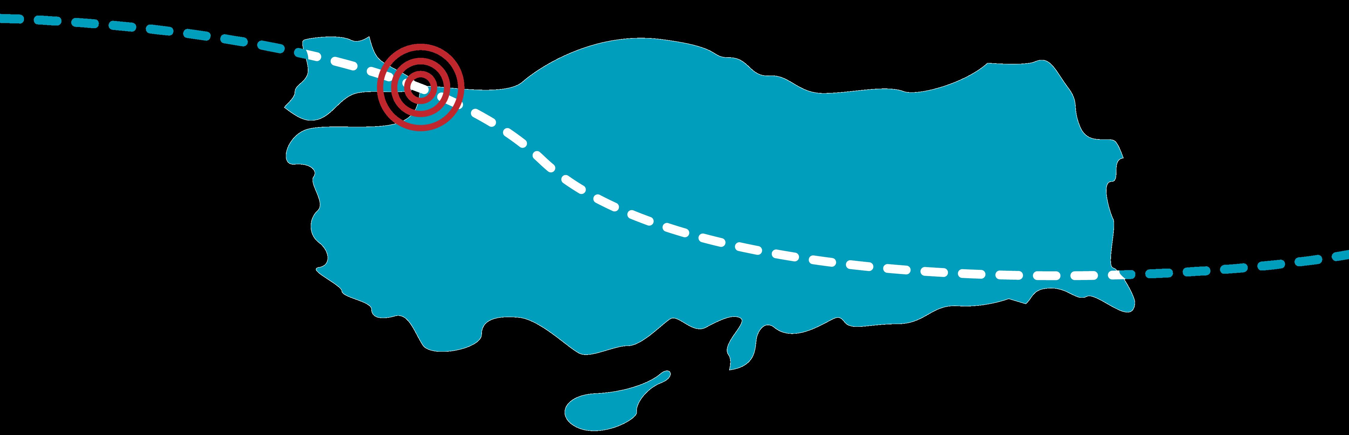 رسم بياني للموقع الجغرافي لإسطنبول